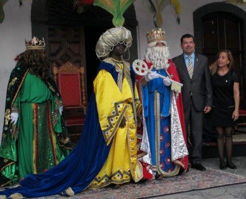 De drie koningen bezoeken La palma