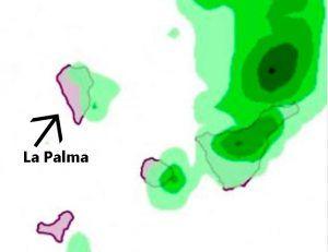 la palma weer regenbui